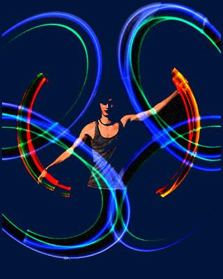Пои-змеи (светятся в ультрафиолете) - Тренировочные